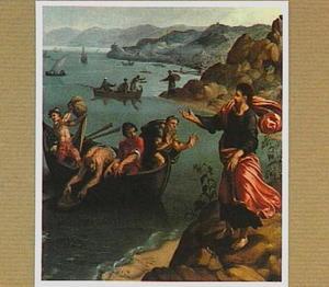 De verschijning van Christus aan het Meer van Tiberias met de wonderbare visvangst (Joh.21:4-8)