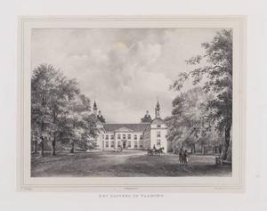 Vooraanzicht van kasteel Warmond