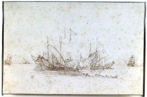 Zeeslag tussen galeien en fregatten