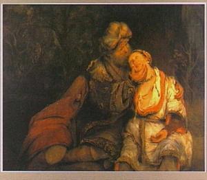 Juda heeft sexuele een  relatie met  Tamar (Genesis 38)
