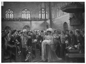 Groepsportret Den Haag: De doop van prinses Juliana, 1909
