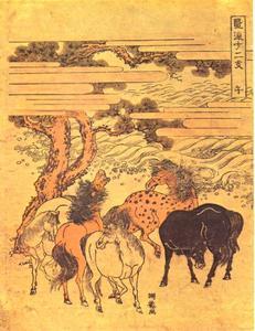 Teken van het Paard (Uma) in de Zodiak, een van de twaalf dierenriemtekens