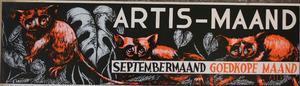 Artis-Septembermaand-Tram-Affiche: drie Lori's (Lorisinae)