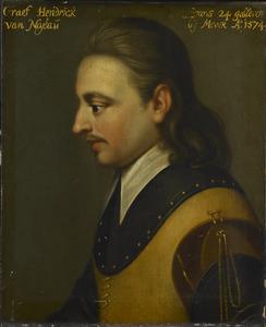 Portret van Hendrik van Nassau (1550-1574)