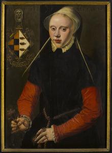 Portret van Maria Frans Jansdr. genaamd Hooghen (....- 1586)