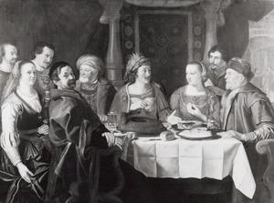 Bruiloftsmaal van Grietje Hermans van Hasselt (..-1668) en Jochum Berntsen van Haecken te Utrecht