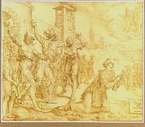De steniging van de Heilige Stephanus (Handelingen 7:54-60)
