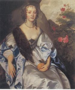 Portret van Elizabeth Savage, Lady Thimbleby (1612-?)