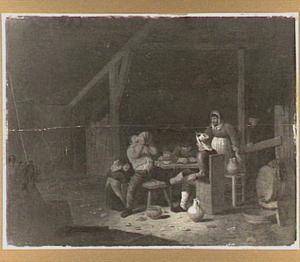 Boerengezelschap in een interieur