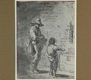 Lazarillo laat de ketellapper de koffer van de kapelaan openen (Lazarillo de Tormes dl. 1, cap. 7, p. 20)