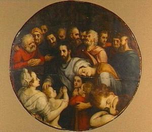 Christus de kinderen zegenend