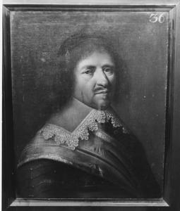 Portret van Dominique Casiopijn, luitenant-kolonel van het Noord-Hollands regiment