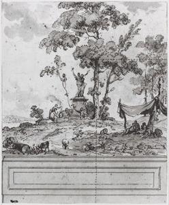 Behangselvlak en tussenstuk uit ontwerp achtwerwand