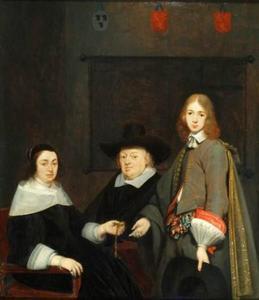 Portret van Anthonie Charles de Liedekercke (?-1661), Wilhelmina van Braeckel (?-1662) en Samuel de Liedekercke 1638-?)