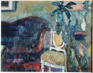 Atelier met sofa en stoel