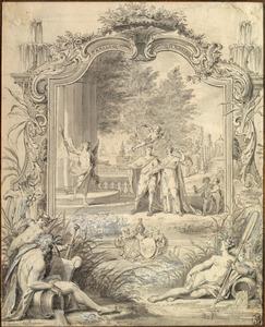 Allegorie op het huwelijk van Hendrik Pieter van Beek en Maria Aletta Vermande, Amsterdam, 28 oktober 1738