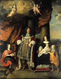Portret van Friedrich Wilhelm van Brandenburg (1620-1688), Louise Henriette van Oranje-Nassau (1627-1667) en hun kinderen