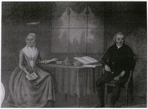 Portret van Henricus Prins (1717-1799) en Johanna van Avezaal (1718-1796)