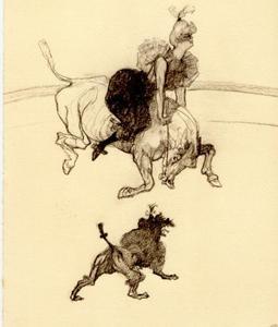 Het saluut: deel van een serie 'Au Cirque'