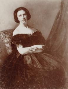 Portret van Walborg Dwernitzka Egidius (1831-1913)