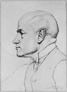 Portret van de kunstenaar Hendrik Johannes Haverman