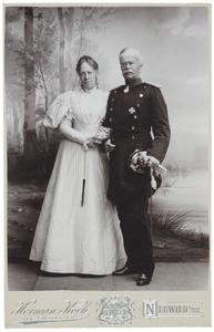 Dubbelportret van prinses Marie van Oranje-Nassau met haar man W.A.M.C. van Wied