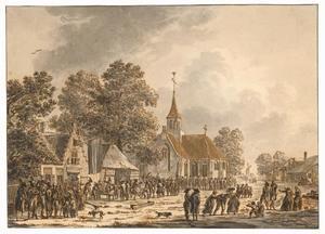 Soldaten in een dorp