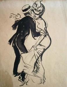 Dansende man en vrouw