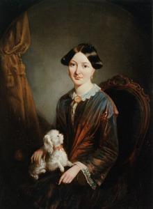 Portret van Joukje Jacoba de Jongh (1826-1868)