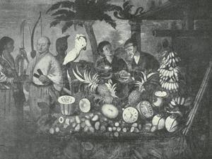 Chinese handelaren met Braziliaanse vruchten