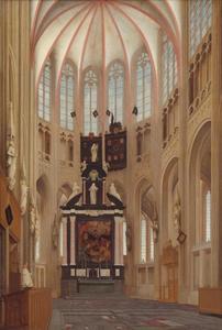Interieur van de Sint-Janskathedraal in 's-Hertogenbosch