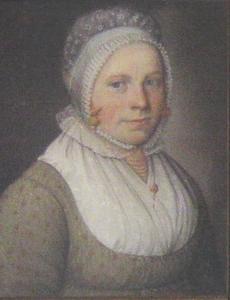 Portret van een vrouw, mogelijk Geertje Geerts Mulder (1775-1840) of Aaltje Alberts Stoter (1769-1832) of Hillegien Pieters Berghuis (1789-1882)