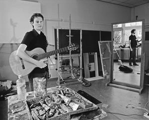 Wouter van Riessen in zijn atelier