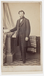 Portret van dhr. Hendrik Willem Adrianus Voorhoeve (1822-1864)