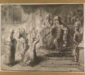 Het oordeel van Salomo: Salomo geeft opdracht het levende kind doormidden te delen  (I Koningen 3: 16-27)