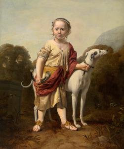 Portret van een meisje als jaagster