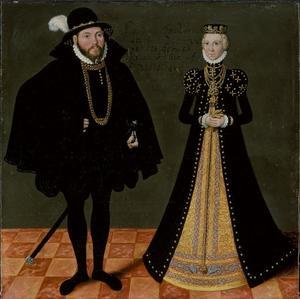 Ulrich van Mecklenburg-Güstrow (1527-1603) en Elisabeth van Denemarken (1524-1586)