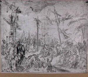 Christus en de moordenaars aan het kruis