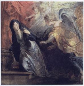 De annunciatie van de dood van Maria