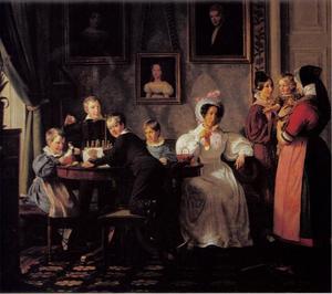 Portret van de familie Waagepetersen