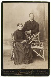 Portret van Gerrit van Doesburg (?-?) en zijn vrouw