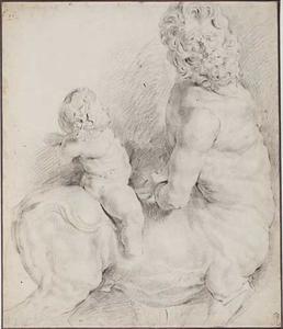Een centaur gekweld door Cupido