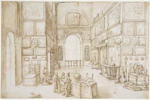 Interieur van een schilderijenverzameling