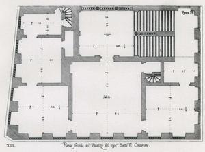 Palazzo Centurione: Plan van de hoofdverdieping