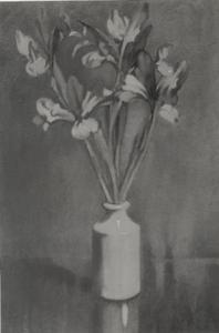 Irissen in een vaas