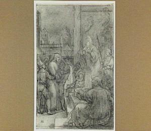 Christus voor Kajafas (Mattheüs 26:57-68)