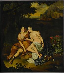 Callisto door Zeus in de gedaante van Diana verleid