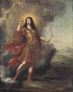 Portret van koning Karl XI (1655-1697) als Apollo