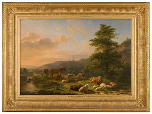 Heuvellandschap met vee