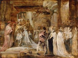 De kroning van Maria de' Medici op 13 mei 1610
